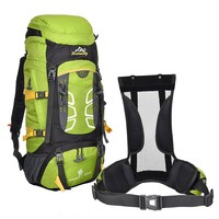 Air cushion straps hiking backpack ergonomic travel hiking big backpack bag