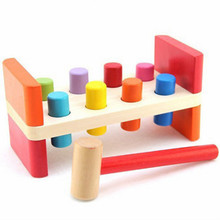 Know whack-a-mole game, color, increase the force of reaction, educational wooden toys