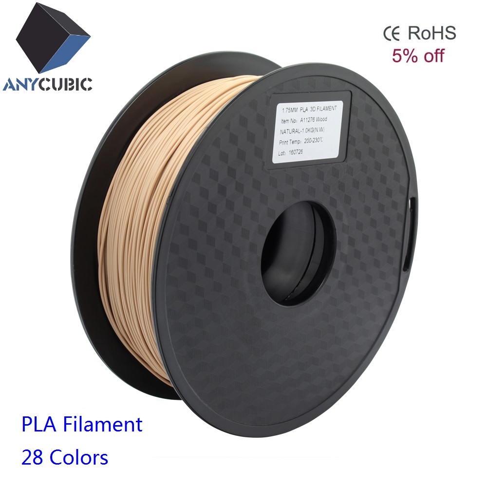 Anycubic 3D Printer Wooden 1.75mm PLA Filament for 3D Printing Pen