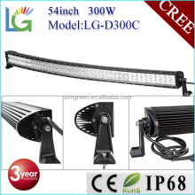 Emergency Auto Light Curved 54inch LED Light Bar for Trucks 4x4 Accessories 300W LED Bar Lights