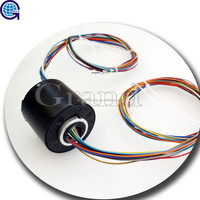 ID 25.4mm 36 circuits 12P/24S electrical contacts rotary joint Through Bore slip ring in ac generator