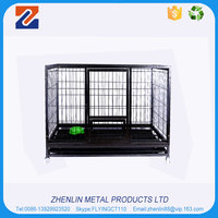 Hot selling cheap metal dog cage with wheels