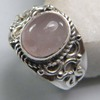 Rose Quartz Ring plated 925 Sterling Silver 10-15 Gms