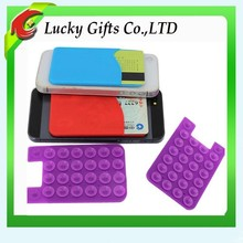 Small Silicone Mobile Phone Case Wallet With Sucker