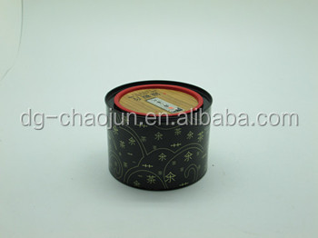 black decorative small round metal tin box with ISO certified