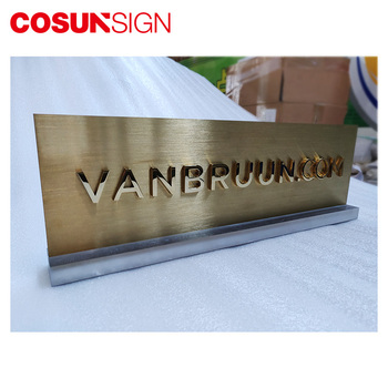 Electroplated brushed etched and paint metal toilet sign plate