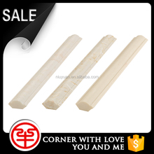 Round plastic edge trim for aluminum window marble