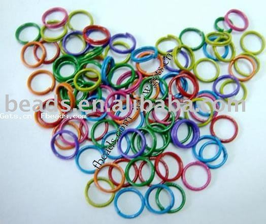 mixed color iron closed iron jump rings
