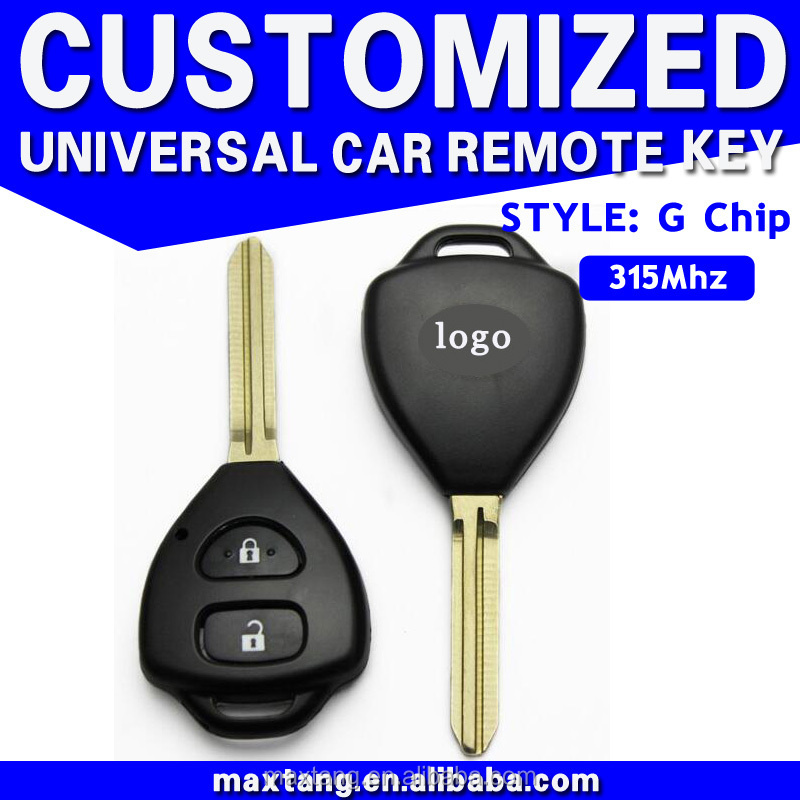 315MHz Universal Car Smart Key 2 Buttons Flip Remote Car Key for Toyota Corolla With G Chip MTF-100807