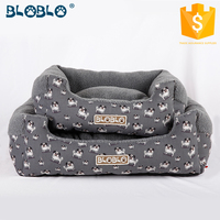 custom digital cute dog design printing dog bed for pet house