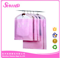 Designed customized garment bags zipper foldable nonwoven suit cover
