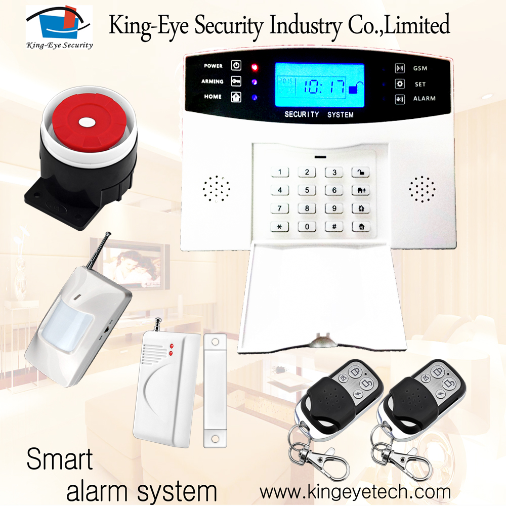 Flagship product 6 phone/SMS alarm numbers LCD display 3g wireless home security alarm camera system