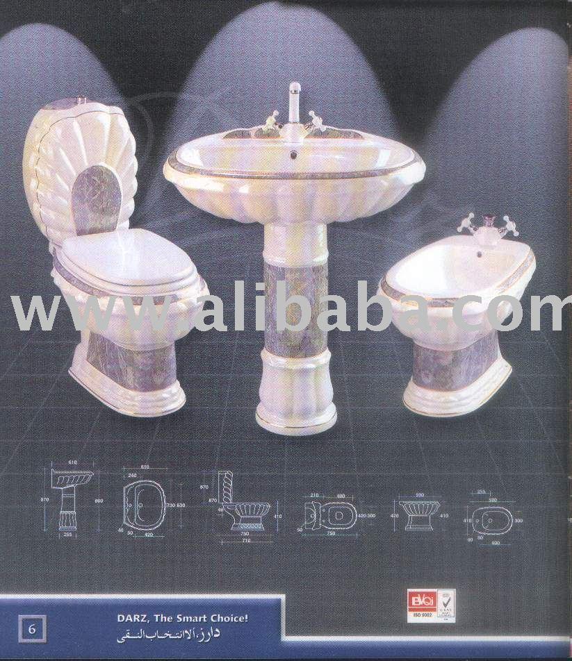 Regal ceramica decorata stanza da bagno set lavelli del - Lavelli da bagno ...