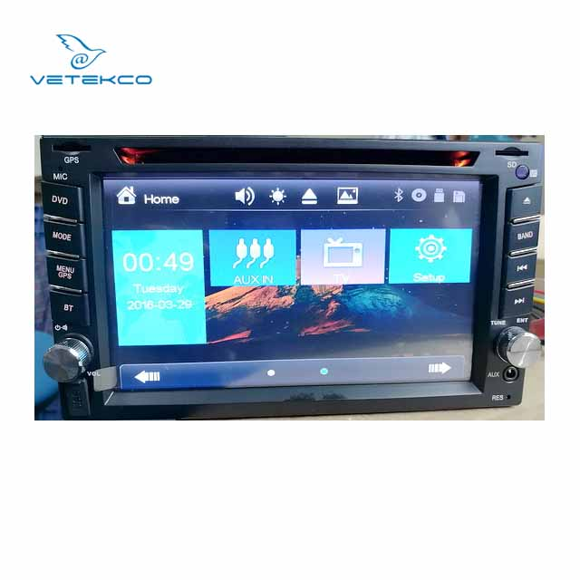 Double Din Universal Car Video Player built-in ISDB-T TV 6.2inch 2 Din Car DVD Player with GPS