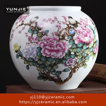 Modern style excellent quality red ceramic unique large vases for floor decor decoration vase