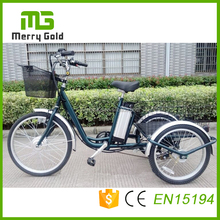 China factory lithium electric tricycle/3 wheel electric bike for adult 36V 250W