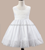 Walson kids wedding dresses sleeveless kids girls evening dresses white ball gown dresses for kids
