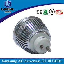 220V AC 2700K dimmable lampadas led gu10 5 W 6w, spot led dimmable 240V