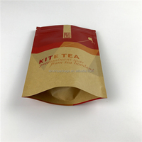High quality stand up kraft paper zip lock bag for tea package