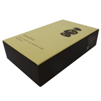 printed face mask cardboard box packaging with all mterial environmental protection can be recycled