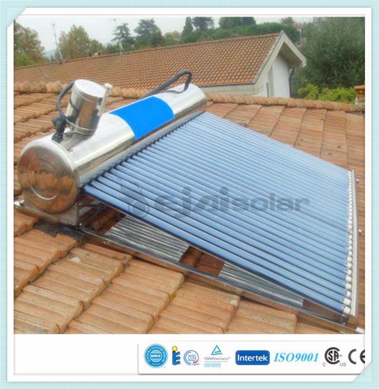 solar water heater with controller