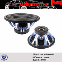 12inch professional car subwoofer for rms 300w with blue aluminum basket under seat subwoofer
