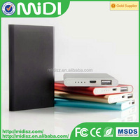 Polymer portable book power bank 5000 mah for mobile phone with retail packaging
