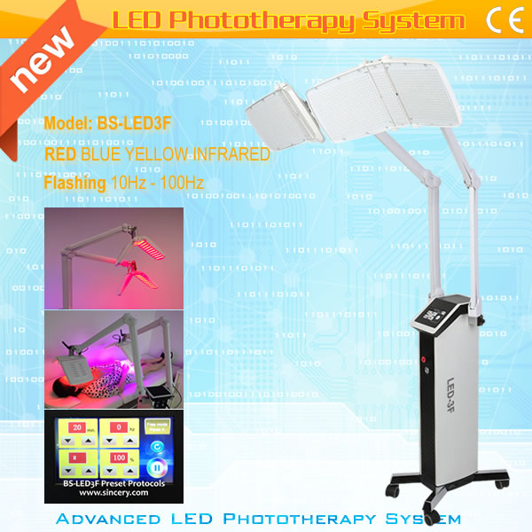 PDT Dual panel acne treatment LED phototherapy equipment/LED PDT light phototherapy