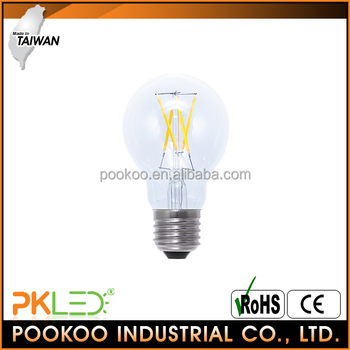PKLED Taiwan filament 360 degree glass led light bulb 4w