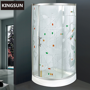 Acrylic Tray Folding Small Free Standing Drawing Glass Shower Enclosure K-7809