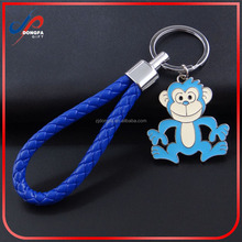 Zinc alloy plating metal soft enamel custom design souvenir monkey keychain