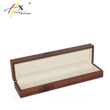 Jewellery Boxes with Logo, Necklace Flip Wooden Jewelry Box With Leather Interior