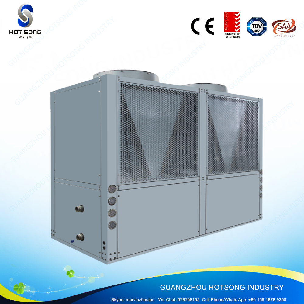 HS-150W/D economical high cop air source commercial evi heat pump water heater with R407A compressor
