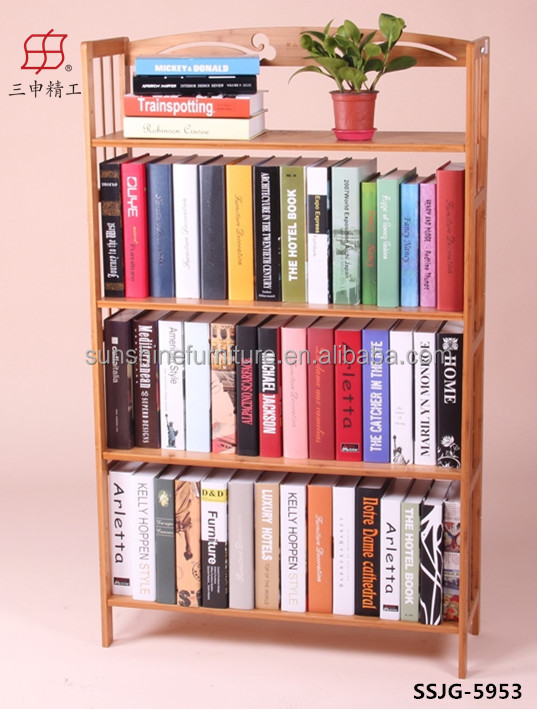 Wooden Modern Bookcase Bookshelf Bookcase With Study Table