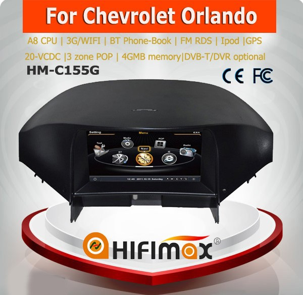 Hifimax in car audio system for chevrolet orlando car radio stereo mp3 mp4 mp5 gps navigation system