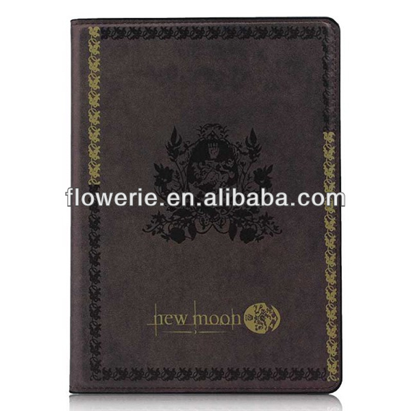 FL3274 2013 Guangzhou hot selling retro classic new moon book style leather flip case for ipad air 5