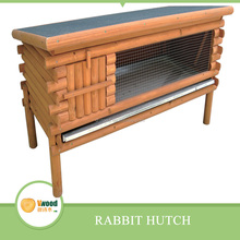 Wooden Single Storey Rabbit Hutch With Asphalt Roof For Weather-proof