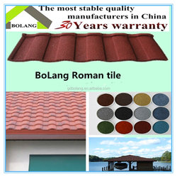 China Environment Friendly Flat Stone Coated Roof Tiles, Bond Stone Coated Metal Roofing/ Roof Tiles