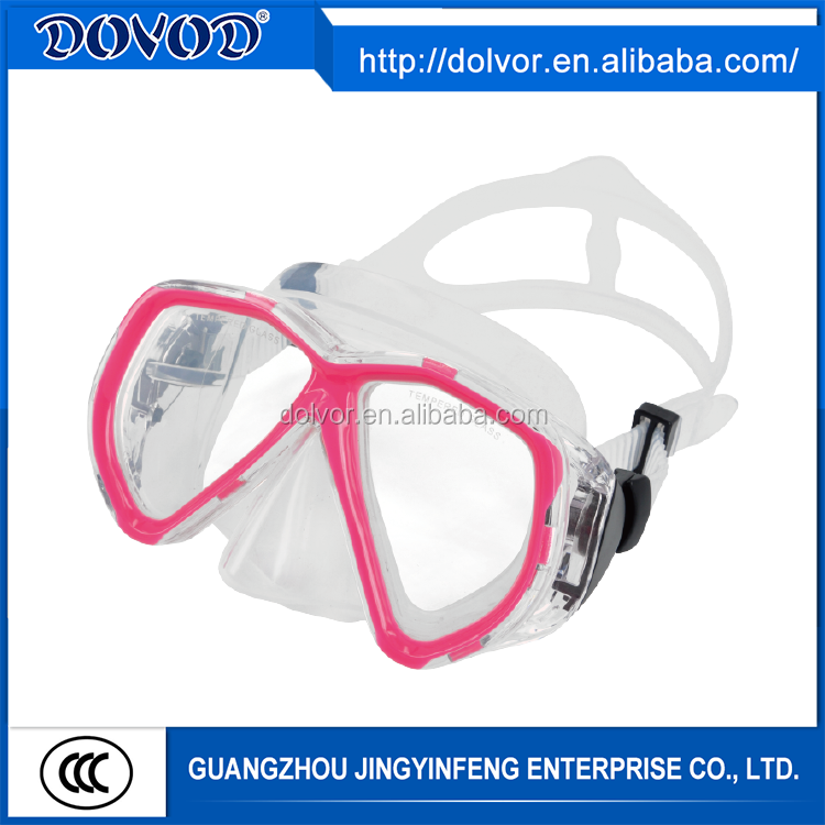 Professional manufacturer silicone swimming diving mask of black mask