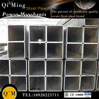 Popular type of engineering construction of black square steel pipe