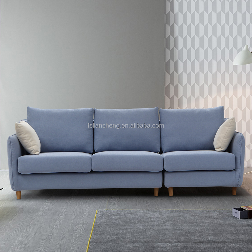 Contemporary living room fabric sofa set low price 3 for Contemporary sofa set