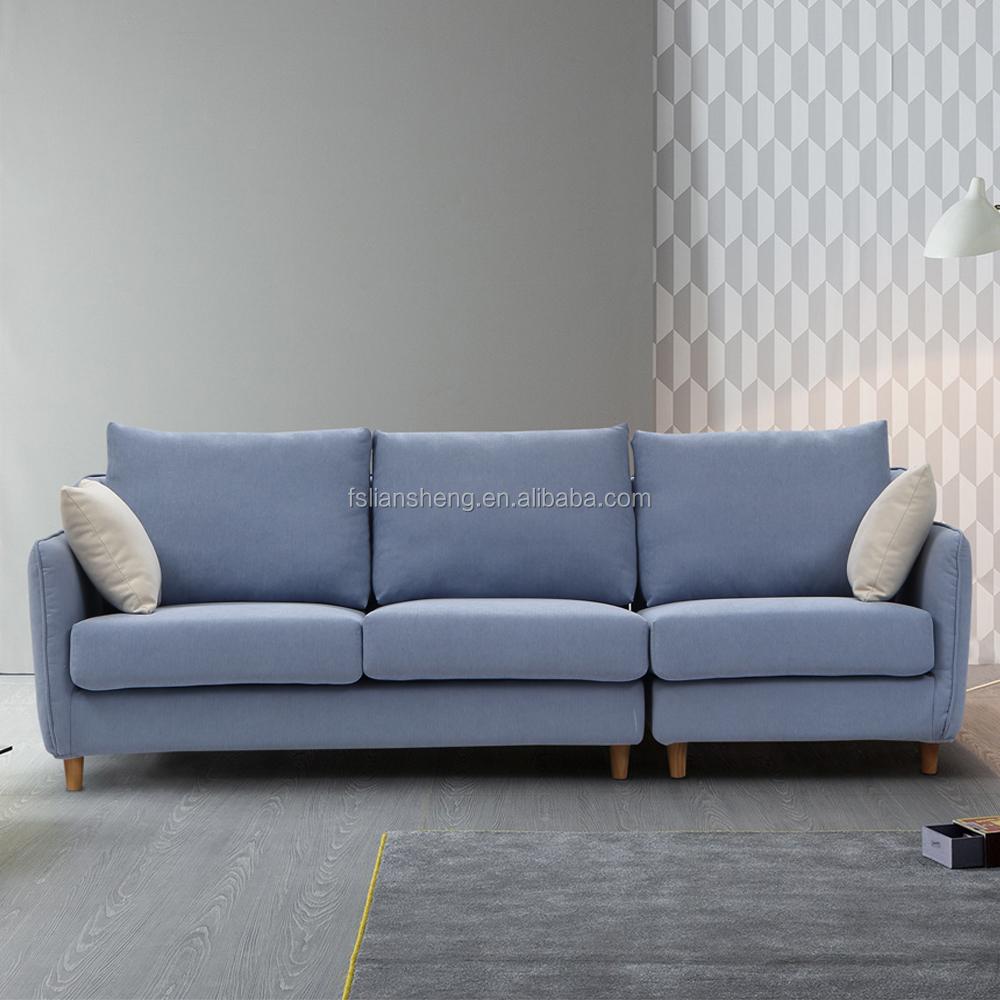 Contemporary living room fabric sofa set