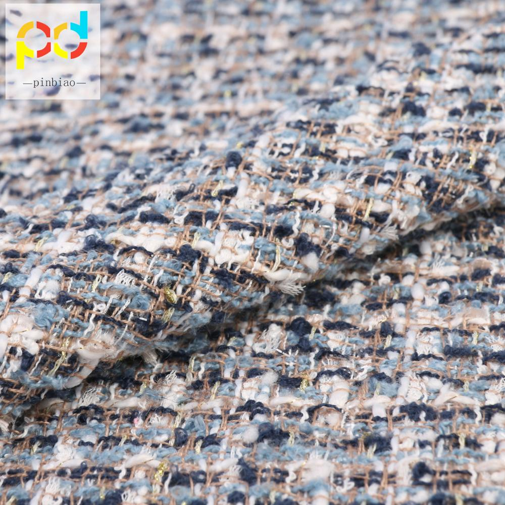 Shaoxing factory spot wholesale 100% polyester boucle tweed fabric for overcoat