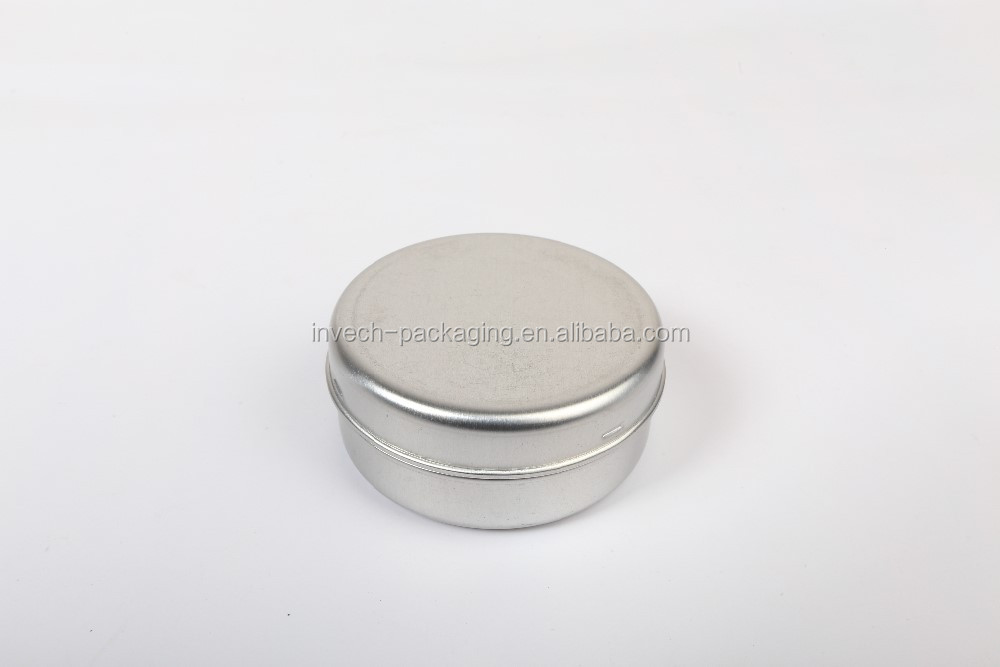 silver 100g aluminum body butter jars. white aluminum cans for wedding favors
