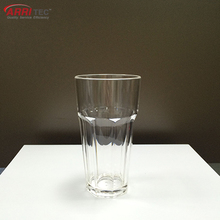 PC Clear juice Champagne Cups plastic tumbler 350ml hexagon cocktail beer plastic cup