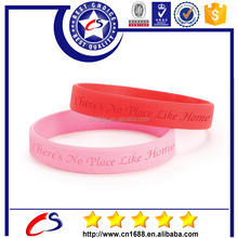 Personalized bracelet silicone with swirl color and deboss logo