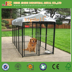 1.22m(W)x2.4m(L)x1.85m(H) outdoor powder coated welded dog kennel
