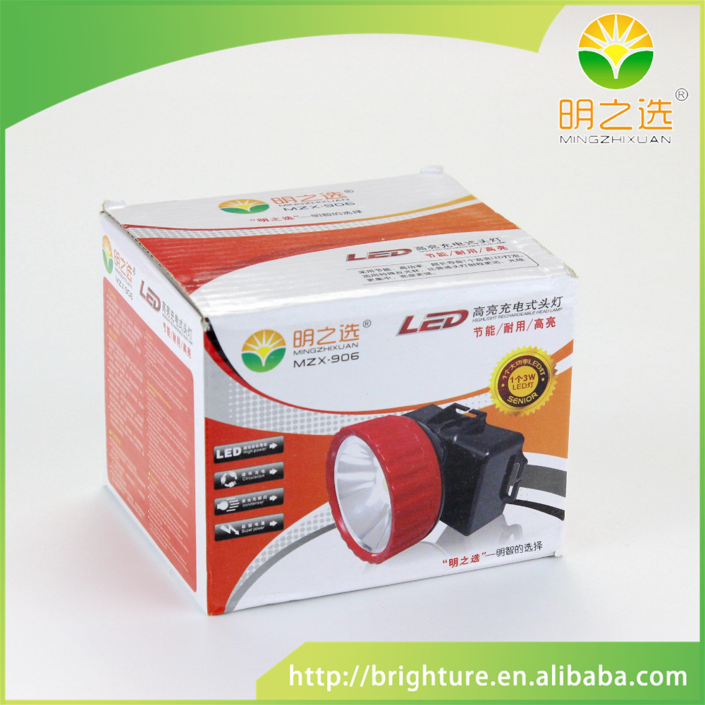 Safety led rechargeable head light lamp