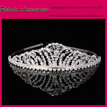 Factory Wholesale Bling Bling Crystal Rhinestone tiaras wedding bridal bulk princess rhinestone tiaras in stock