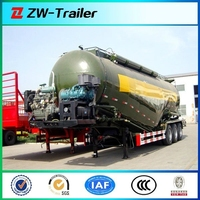 Large capacity 3 axles 40CBM bulk powder semi-trailer for coal ash/lime dust/mineral powder transportation on hot sale